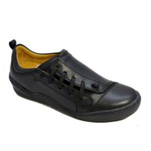 Safe Step-Ανατομικά Αθλητικά Δερμάτινα-19507-ΜΑΥΡΟ