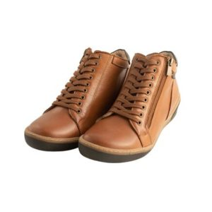 Safe Step-Ανατομικά Μποτάκια Δερμάτινα Comfort-19511-COGNAC