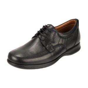Ανδρικά Δερμάτινα Ανατομικά Safe Step Χρώμα Μαύρο Κωδ. 1001