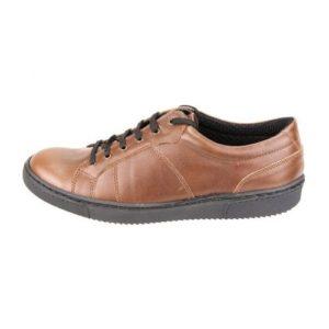 Ανδρικά Δερμάτινα Sneakers Κούρος, Καφέ, Λείο Δέρμα, κωδ. Κ04
