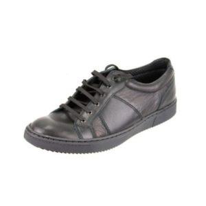 Ανδρικά Δερμάτινα Sneakers Κούρος, Μαύρο, Λείο Δέρμα, κωδ. Κ04