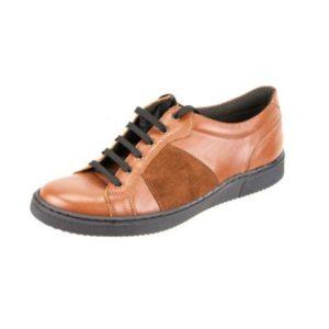 Ανδρικά Δερμάτινα Sneakers Κούρος, Ταμπά, Δέρμα και Καστόρι κωδ. Κ04