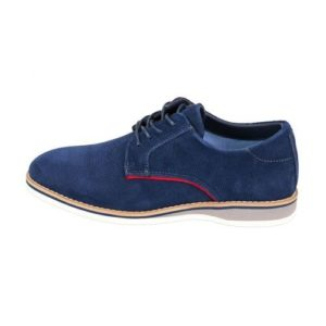 Ego Shoes-Ανδρικά Δερμάτινα Sneakers-G18-09122-38-ΜΠΛΕ