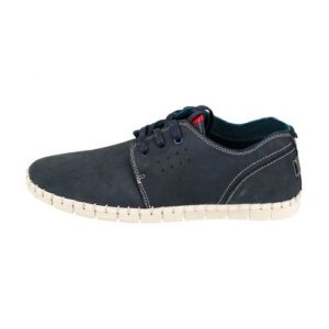 Ego Shoes-Ανδρικά Δερμάτινα Sneakers-G18-09449-38-ΜΠΛΕ
