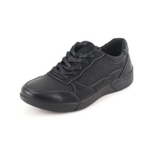 Ego Shoes-Ανδρικά Δερμάτινα Sneakers-G99-06236-34-ΜΑΥΡΟ