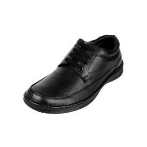 Ανδρικά Μοκασίνια Δερμάτινα με Κορδόνια, REVOLVER Shoes, Χρώμα Μαύρο Κωδ. RU84-4633