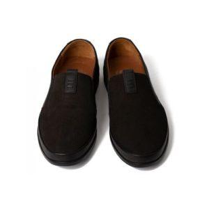 Ανδρικά Μοκασίνια Δερμάτινα Safe Step Χρώμα Μαύρο Model 1041