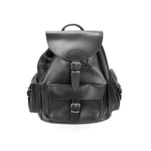 Ανδρικό Δερμάτινο Σακίδιο Πλάτης Model 405 Μαύρο, Δέρμα Ά Ποιότητα