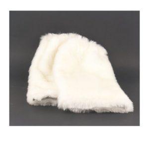 Γκέτες Συνθετική Μαλακή Γούνα Λευκό