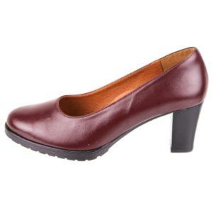 Zak Shoes-Γυναικεία Ανατομική Γόβα-SO640-ΜΠΟΡΝΤΟ