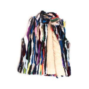 Dalis Leather-Γυναικεία Γούνα Γιλέκο Vison-GGVM01-MULTICOLOR