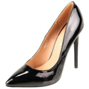 Zak Shoes-Γυναικεία Γόβα Λουστρίνι-TDKAN18-017-ΜΑΥΡΟ