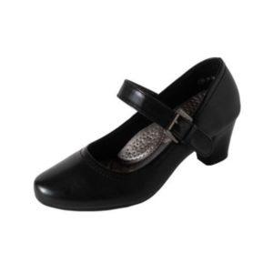Zak Shoes-Γυναικεία Γόβα Χορού με Μπαρέτα-33-107BLCK-ΜΑΥΡΟ