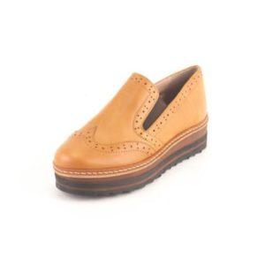 Γυναικεία Δερμάτινα Παπούτσια τύπου Oxford. Σχέδιο K200 Καφέ