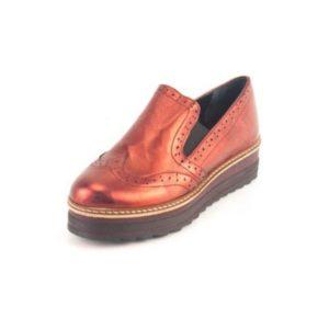 Γυναικεία Δερμάτινα Παπούτσια τύπου Oxford. Σχέδιο K200 Μπορντό