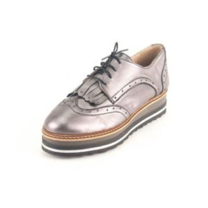 Γυναικεία Δερμάτινα Παπούτσια τύπου Oxford. Σχέδιο K300 Ατσάλι