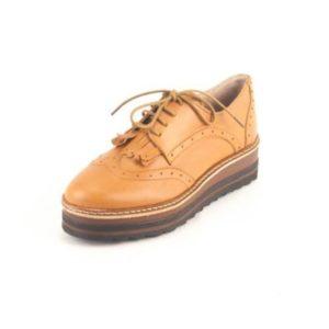 Γυναικεία Δερμάτινα Παπούτσια τύπου Oxford. Σχέδιο K300 Καφέ