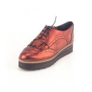 Γυναικεία Δερμάτινα Παπούτσια τύπου Oxford. Σχέδιο K300 Μπορντό