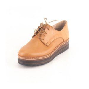Γυναικεία Δερμάτινα Παπούτσια τύπου Oxford. Σχέδιο K400 Καφέ