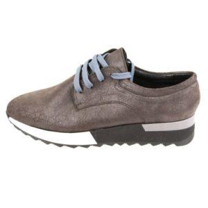 Γυναικεία Δερμάτινα Sneakers Κούρος, Καφέ Σκούρο, Δέρμα Καστόρι κωδ. L200