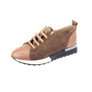 Γυναικεία Δερμάτινα Sneakers Κούρος, Ταμπά, Δέρμα και Καστόρι κωδ. L400