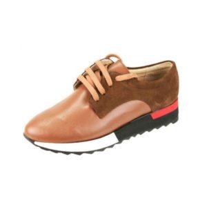 Γυναικεία Δερμάτινα Sneakers Κούρος, Ταμπά, Καστόρι και Λείο Δέρμα κωδ. L200