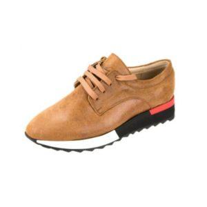 Γυναικεία Δερμάτινα Sneakers Κούρος, Camel, κωδ. L200