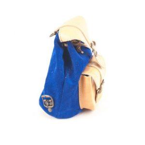 Γυναικείο Δερμάτινο Σακίδιο Πλάτης Model 642 Φυσικό Μπλε