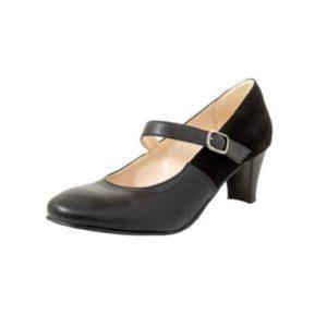 Zak Shoes-Γόβα Χορού από Γνήσιο Δέρμα με Μπαρέτα-MR509355DM-ΜΑΥΡΟ