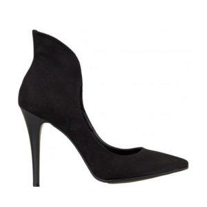 Γόβες Suede Envie Shoes 02-185-02 ΜΑΥΡΟ