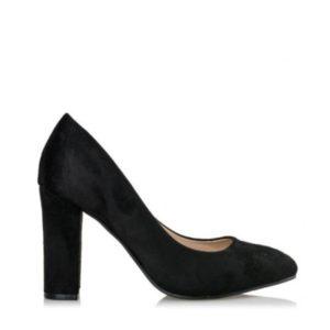 Smart Shoes-Γόβες Suede-S31-08242-34-ΜΑΥΡΟ