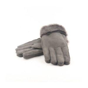 Δερμάτινα Γάντια Μουτόν Γκρι