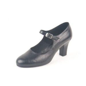 Κόγιας-Δερμάτινα Γυναικεία Παπούτσια Χορού Latin-DSL00002-ΜΑΥΡΟ