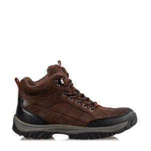 Ego Shoes-Δερμάτινα Ορεβατικά Μποτάκια Ανδρικά-G12-12113-28-ΚΑΦΕ