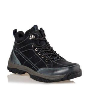 Ego Shoes-Δερμάτινα Ορεβατικά Μποτάκια Ανδρικά-G12-12113-34-ΜΑΥΡΟ