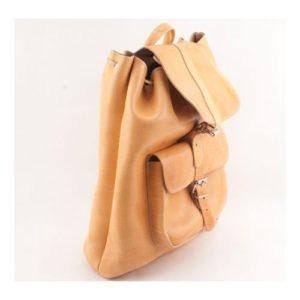 Δερμάτινα Σακίδια Πλάτης Model 400 Φυσικό Χρώμα, Δέρμα Ά Ποιότητα