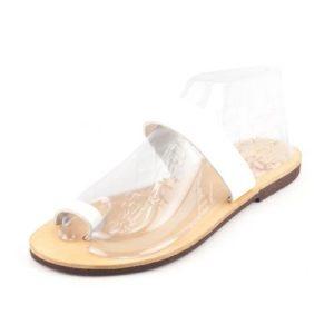 Δερμάτινα Σανδάλια Dalis Leather Model 104Χ Λευκό