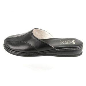 Zak Shoes-Δερμάτινες Ανατομικές Παντόφλες Γυναικείες-SO1604-1-ΜΑΥΡΟ