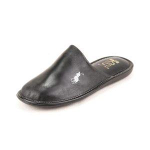 Δερμάτινες Ανατομικές Παντόφλες SO138BLA Polo Ralph Lauren Μαύρο POLOBLACK
