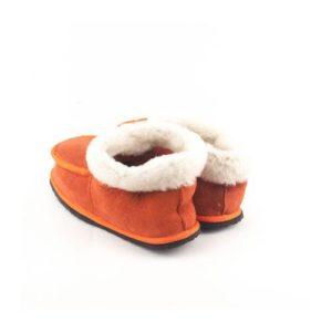 Δερμάτινες Παντόφλες Καστοριάς Δέρμα Καστόρι, Κλειστές Πορτοκαλί