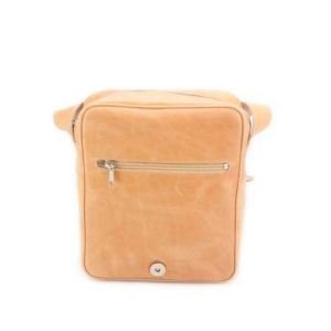 KOUROS-Δερμάτινη Ανδρική Τσάντα Ώμου με Καπάκι-15-ΦΥΣΙΚΟ