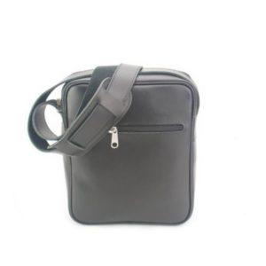KOUROS-Δερμάτινη Ανδρική Τσάντα Ώμου χωρίς Καπάκι-15-ΜΑΥΡΟ