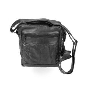 Δερμάτινη Ανδρική Τσάντα Ώμου, Κούρος Model 9 Χρώμα Μαύρο