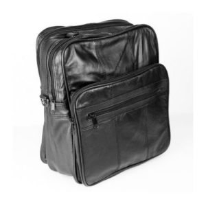 Δερμάτινη Ανδρική Τσάντα Ώμου, χρώμα μαύρο, Κούρος Model 07-1257