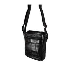 Δερμάτινη Ανδρική Τσάντα Ώμου, χρώμα μαύρο, Κούρος Model 9#