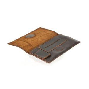 Δερμάτινη Καπνοθήκη Κούρος χρώμα Καφέ Κωδ. 1301