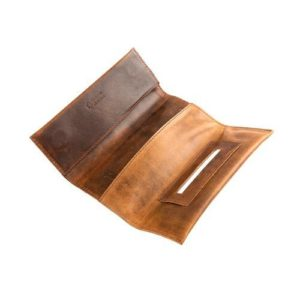 Δερμάτινη Καπνοθήκη Κούρος χρώμα Καφέ Kara Model 12544