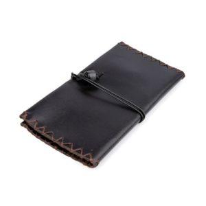 Δερμάτινη Καπνοθήκη Κούρος χρώμα Μαύρο Κωδ. 114