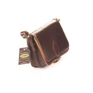 Δερμάτινη Τσάντα Κούρος Model 313 Καφέ