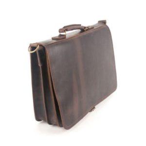 KOUROS-Δερμάτινη Τσάντα Laptop-100-ΚΑΦΕ ANTIQUE